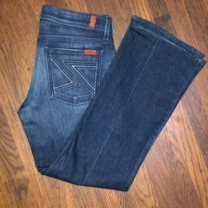 7 Seven For All Mankind Dark Blue Jeans